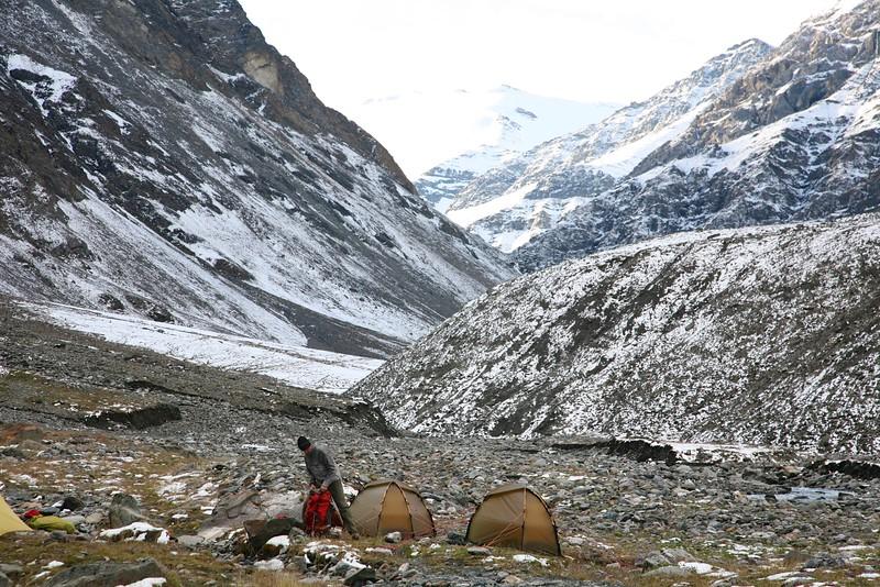 Preparing to move up toward pass 1 - Arctic National Wildlife Refuge