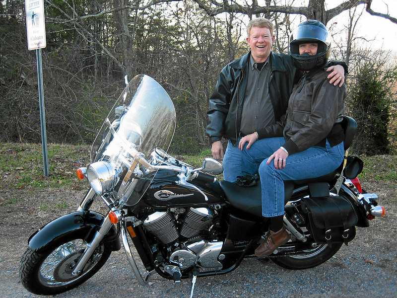 12/17/2006 - Mike and Dede Merk on their Honda Shadow -