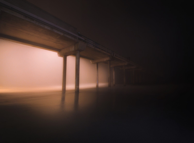 Color Foggy Night in La Jolla