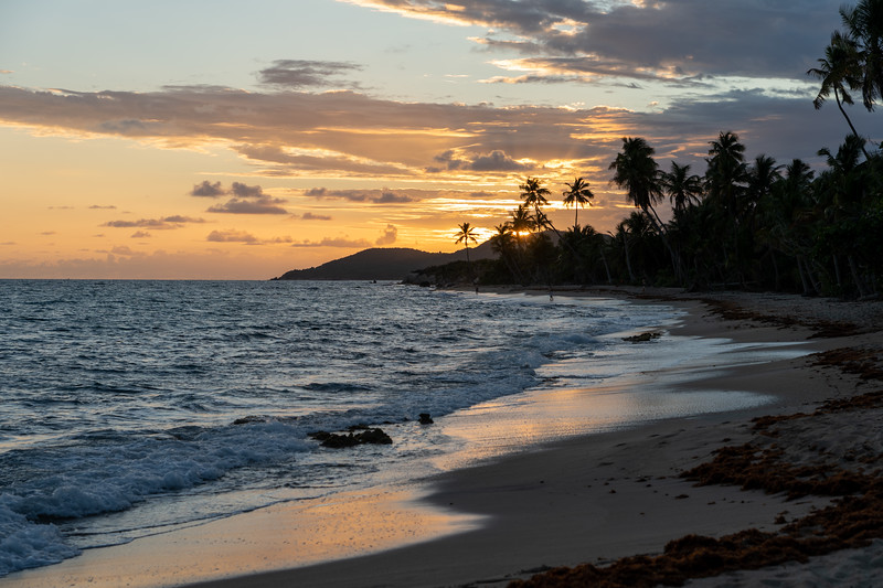 Beach sunset on Vieques