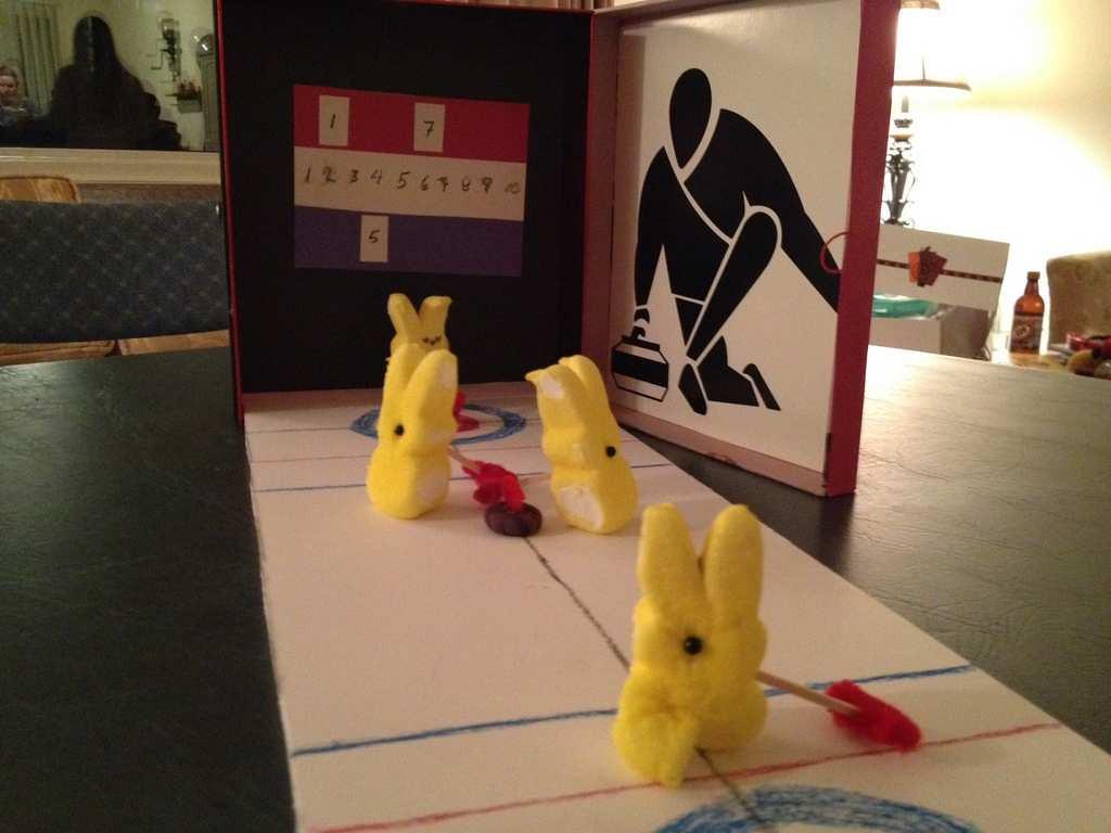 ". \""St. Paul Curling Peeps,\"" by Tina Lahti"