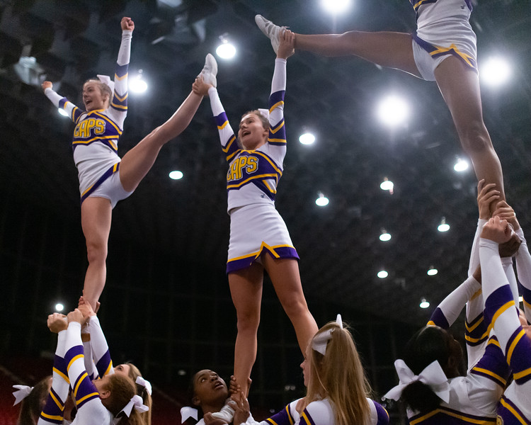 Broughton cheerleading Pre-States. November 16, 2019. D4S_1639