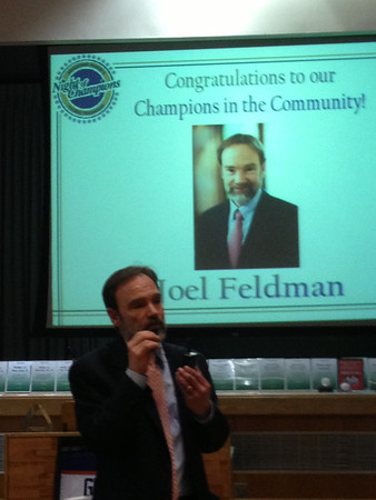 Magge Night of Champions in the Community Award - Casey's father, Joel Feldman Recognized 2013