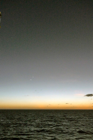 Venus, Jupiter, Saturn