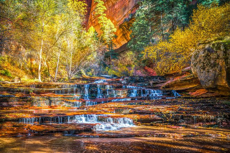 Zion Autumn Reverie: Archangel Falls Zion National Park Fine Art Landscape Nature Photography