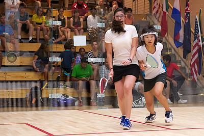2011-07-22 4th Round: Nour El Sherbini (Egypt) and Ho Ka Po (Hong Kong)