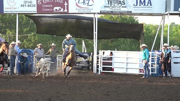 Steer Wrestling Saturday Night Blue Ridge Rodeo
