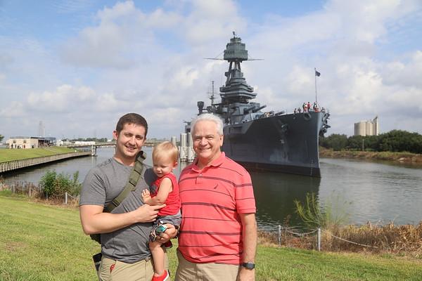 Jamesons 1st visit to Battleship of Texas