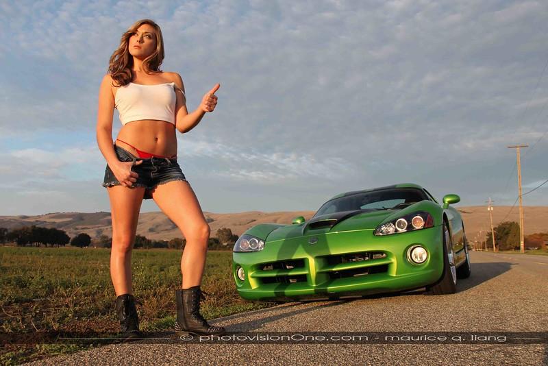 Hot Hitchhiker.  2008 Viper SRT10.  Model: Crystal.