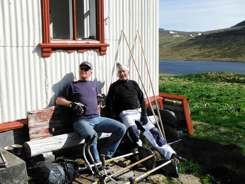 Gunnar og Hilmar á meyjarsætinu.