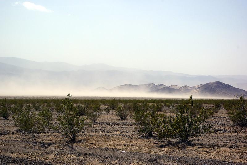 Dust storm, Mojave Desert