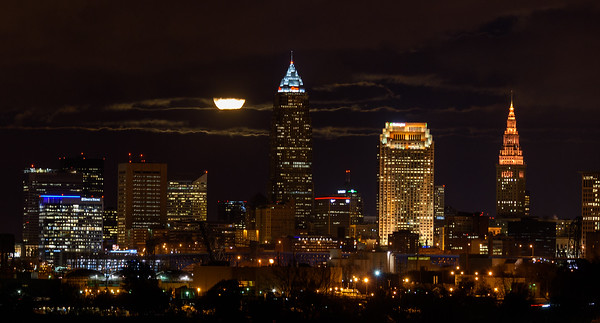 Full Moon over Cleveland November 2014