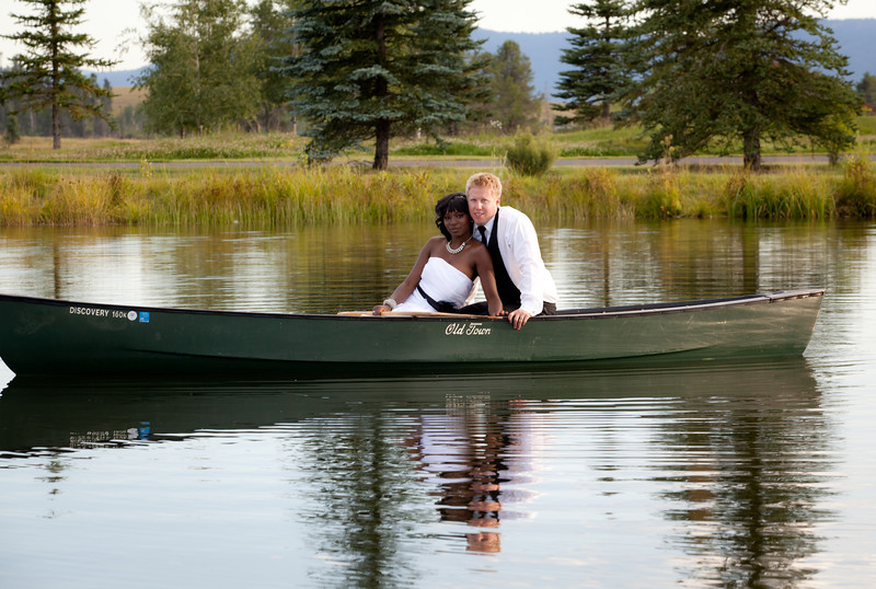 Wedding Picture Taken at the Gorgeous River Ranch in McCall Idaho..