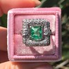 1.60ctw Emerald and Diamond Cocktail Ring 12