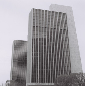 Empire State Plaza B&W