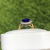 7.00ctw Tanzanite and Diamond Halo Ring 9