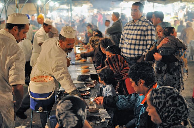 Garküchen auf dem Djema el Fna