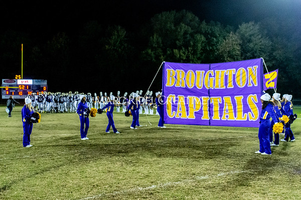 Broughton football vs Millbrook. Senior night. November 8, 2019. D4S_7342