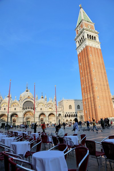 Piazza San Marco - St. Mark's Basilica and the Campanile (clock tower)