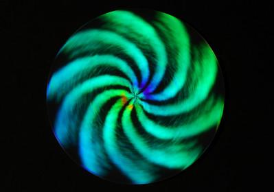 experiment 4 - rotating laserdiscette