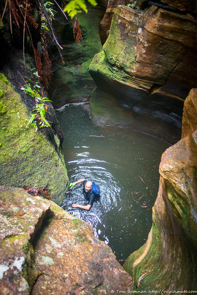 Pool below the next drop