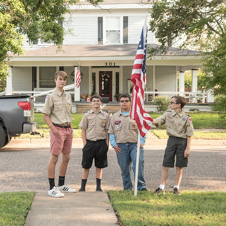 Boy Scouts Flag Display