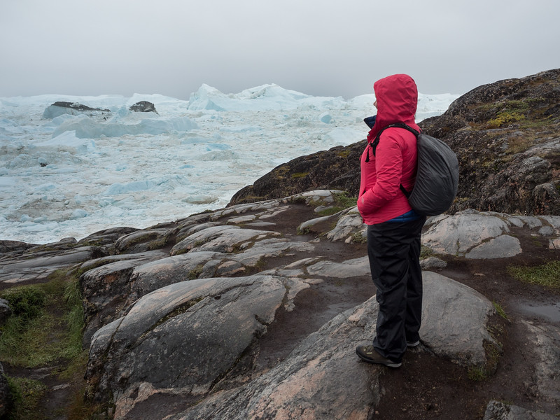 Amanda looking out over the Ilulissat Icefjord