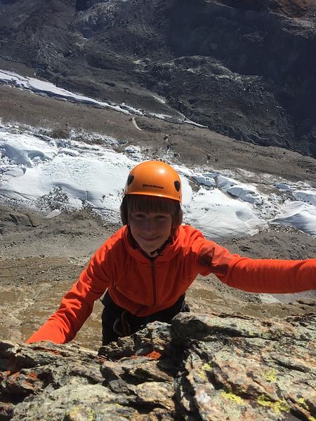Bennitt climbing