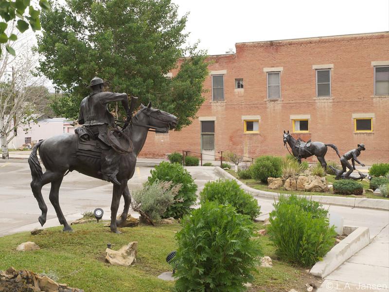 Johnson County War Statue, Buffalo, Wyoming