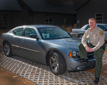 Last day on job as game warden lieutenant before turning over the keys to my car and equipment. (photo by Mike Minarik, 12/08)