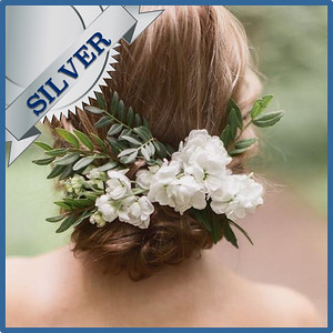 92503 Bridesmaid or kids hair decoration Silver