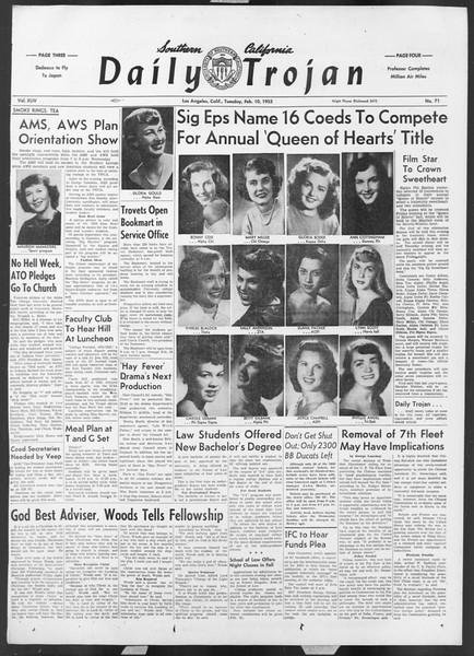 Daily Trojan, Vol. 44, No. 71, February 10, 1953