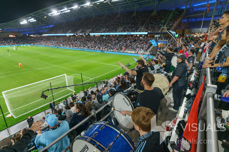 Fans at Allianz Field