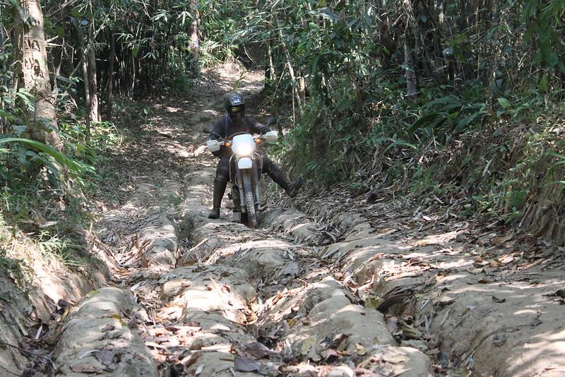Scott cuts a narrow path