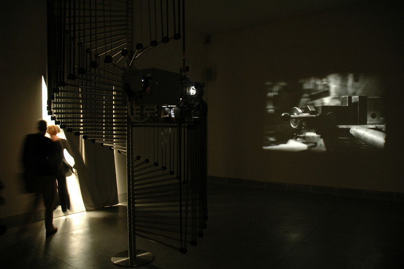 """Simon Starling's """"Wilhelm Noack oHG,"""" a film about the manufacture of the same projector on which it is played."""
