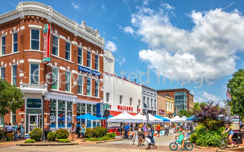 Bentonville's City Square -- Adventure Cycling's Northwest Loop