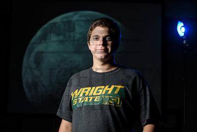 18098 Engineering Student Eric Harris photographs the moon 9-27-16