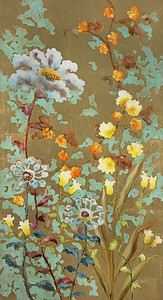"Patina Gardens by Lun Tse, 62""x32"" painting on loose canvas (18-9-10)"