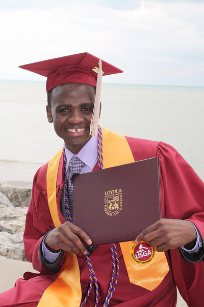 Francis Ogutu 2013 Graduation Loyola University Chicago