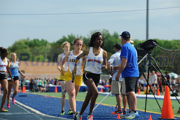 Girls' 4x800 - 2016 Oakland County HS T&F Championships