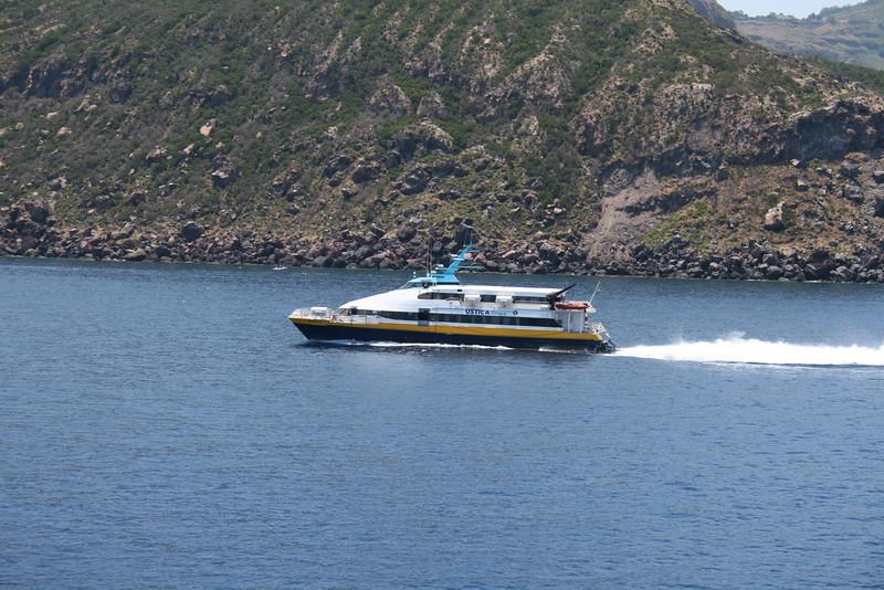 HSC FEDERICA M coasting Vulcano.