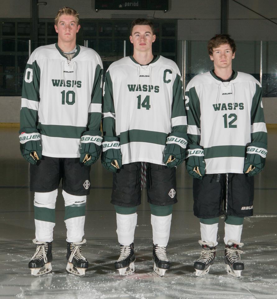 Seniors Steven Townley, Cullen McCarthy, Josh Kennedy