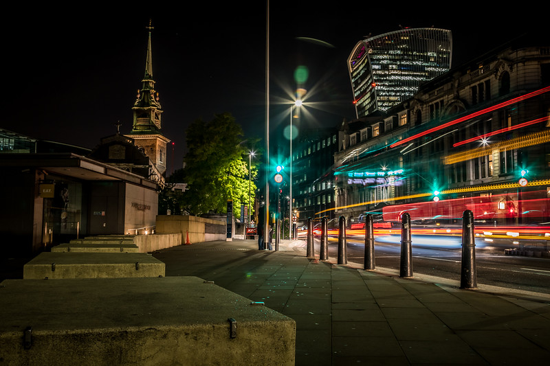 Nighttime in London, UK