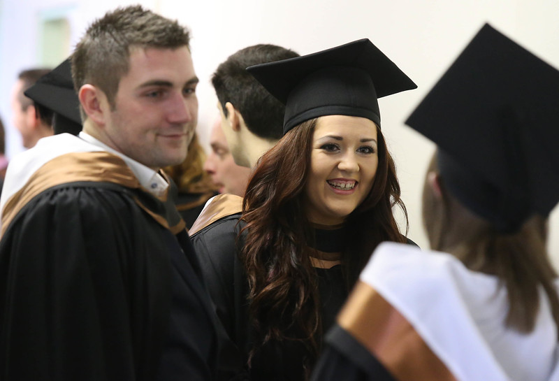 Pictured are Simon Nelson, Wickow and Tanya McGuane, Kildare who graduated Bachelor of Arts (Honours) in Excerise & Health Studies . Picture: Patrick Browne