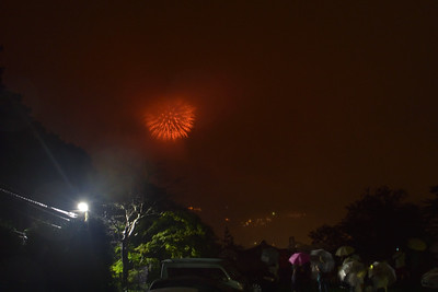 Goura daimonjiyaki and fireworks 強羅大文字焼きと花火