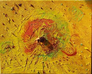 """Solar energy"" (oil on canvas) by Millana Anapreyenka"
