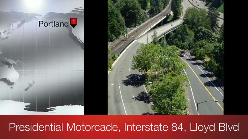 Presidential Motorcade, Portland, Oregon