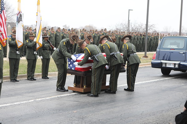 Illinois State Trooper Gerald Ellis Funeral At Lake County Collage