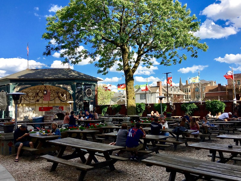 The biergarten of the Rathskeller in Indianapolis