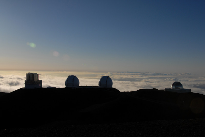 Telescopes on top of Mauna Kea, Hawaii
